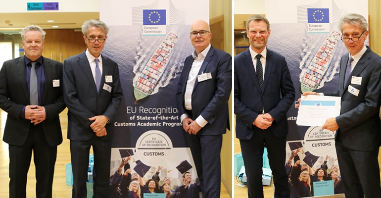 EU recognition for RSM's master programme for Customs and supply chain professionals
